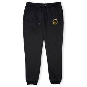Looney Tunes Embroidered Tweety Pie Unisex Joggers - Black