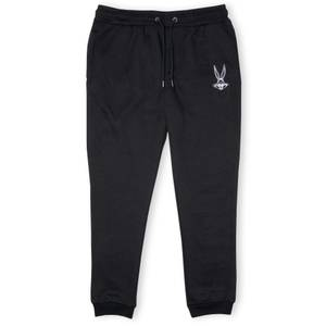 Looney Tunes Embroidered Bugs Bunny Unisex Joggers - Black
