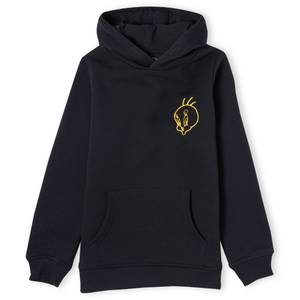 Looney Tunes Embroidered Tweety Pie Unisex Hoodie - Black