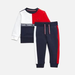 Tommy Hilfiger Babies' Colourblock Joggers Set - Twilight Navy