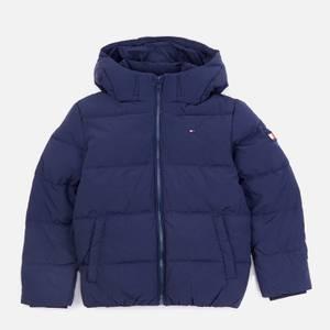 Tommy Hilfiger Boys' Essential Padded Logo Back Jacket - Navy