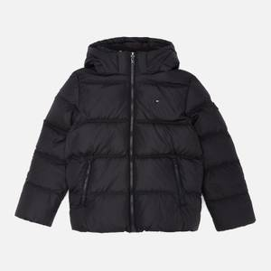 Tommy Hilfiger Boys' Essential Down Jacket - Black