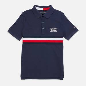 Tommy Hilfiger Boys' Global Stripe Polo - Twilight Navy