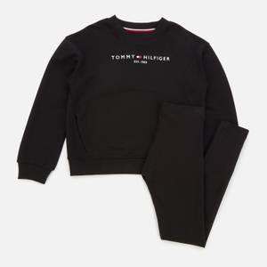 Tommy Hilfiger Girls' Essential Sweatshirt and Leggings Set - Black