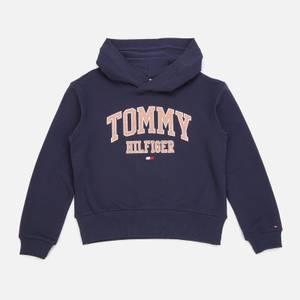 Tommy Hilfiger Girls' Essential Varsity Hoodie - Twilight Navy