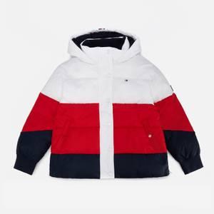Tommy Hilfiger Girls' Essential Puffer Jacket - White/Red/Blue