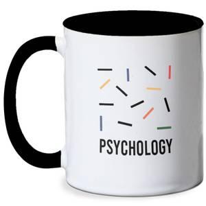 Psychology Abstract Mug - White/Black