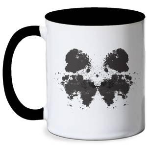 Rorschach Inkblot Black Mug - White/Black