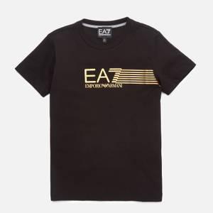 EA7 Boys' Train Lines T-Shirt - Black