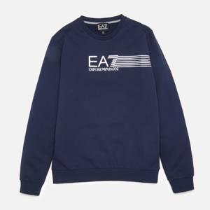 EA7 Boys' Train Lines Sweatshirt - Navy