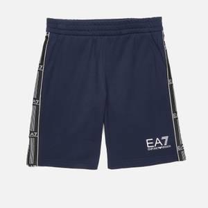 EA7 Boys' Train Logo Bermuda Shorts - Navy