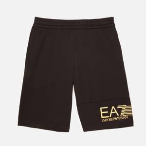 EA7 Boys' Train 7 Lines Bermuda Shorts - Black