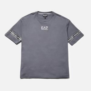 EA7 Boys' Train Logo Series T-Shirt - Iron Gate