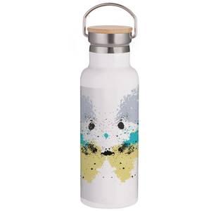 Rorschach Inkblot Pastels Portable Insulated Water Bottle - White