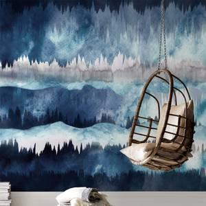 The Horizon Midnight Wall Mural