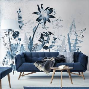 Flower Press Ink Wall Mural