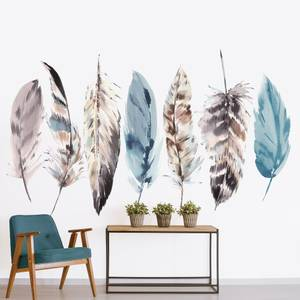 Watercolour Feathers Wall Mural
