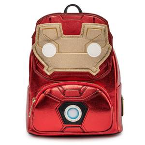 Pop By Loungefly Marvel Ironman Light-Up Mini Backpack