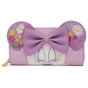 Loungefly Disney Minnie Holding Flowers Zip Around Wallet