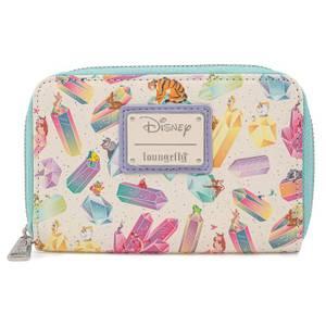 Loungefly Disney Crystal Sidekicks Aop Zip Around Wallet