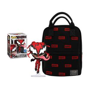 Loungefly Marvel Canvas Mini Backpack & PIAB EXC Marvel Carnage Funko Pop! Vinyl Bundle