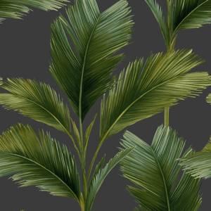 Belgravia Decor Kailani Charcoal Green Wallpaper