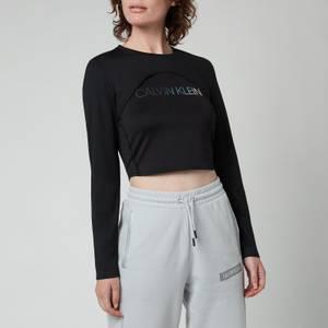 Calvin Klein Performance Women's 2 In 1 Long Sleeve T-Shirt - CK Black