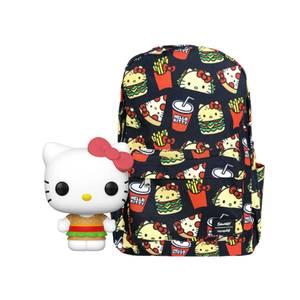 Loungefly Sanrio Hello Kitty Snacks Nylon Backpack & Funko Pop! Vinyl Bundle