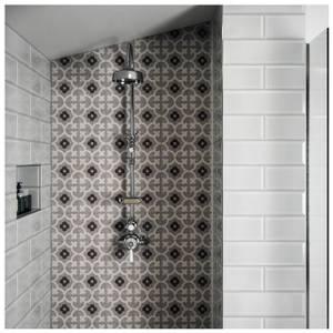 V&A Brompton Godwin Wall & Floor Tile - 20x20cm