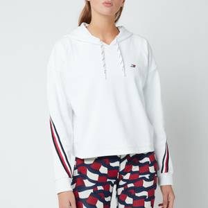 Tommy Sport Women's Relaxed Double Pique Hoodie - Th Optic White