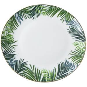 Emerald Eden Dinner Plate with Gold Rim