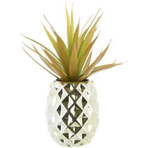 Faux Aloe Vera Succulent Plant - Pineapple Pot