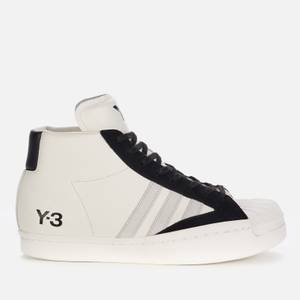Y-3 Men's Yohji Pro Trainers - Cream White/Grey One/Black
