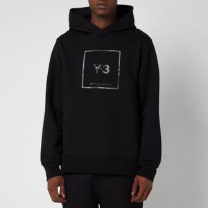 Y-3 Men's Square Label Graphic Hoodie - Black
