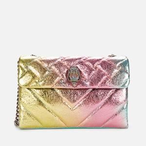 Kurt Geiger London Women's Leather Medium Metallic Kensington Bag - Pink Comb