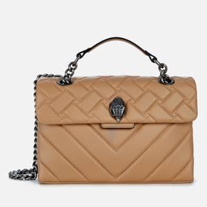 Kurt Geiger London Women's Leather Kensington X Bag - Camel