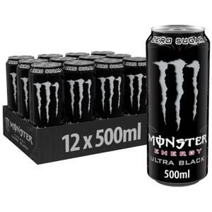 Monster Ultra Black 12 x 500ml