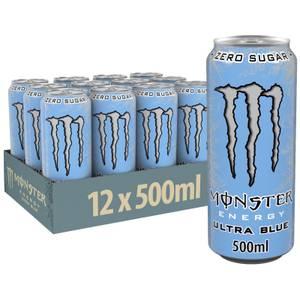 Monster Ultra Blue 12 x 500ml
