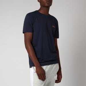 BOSS Athleisure Men's Curved Logo T-Shirt - Bright Blue