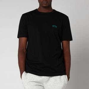 BOSS Athleisure Men's Curved Logo T-Shirt - Charcoal