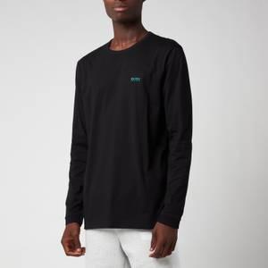 BOSS Athleisure Men's Shoulder Logo Long Sleeve T-Shirt - Charcoal