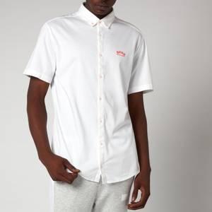 BOSS Athleisure Men's Biadia Short Sleeve Shirt - White