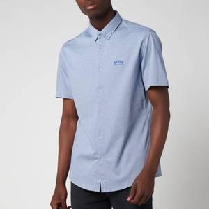 BOSS Athleisure Men's Biadia Short Sleeve Shirt - Bright Blue