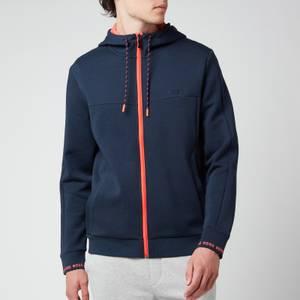 BOSS Athleisure Men's Saggy 1 Zip Through Hoodie - Navy