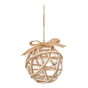 Rope Wrapped Wire Christmas Bauble Tree Decoration - 8cm