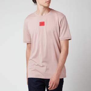 HUGO Men's Regular Fit Red Logo T-Shirt - Light Pink