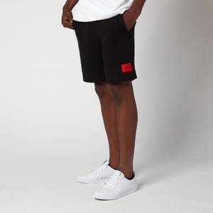 HUGO Men's Relaxed Fit Sweat Shorts - Black