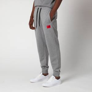 HUGO Men's Red Logo Patch Sweatpants - Medium Grey