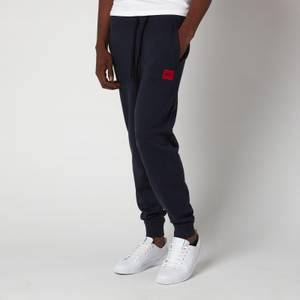 HUGO Men's Red Logo Patch Jogging Bottoms - Dark Blue