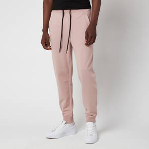HUGO Men's Red Logo Patch Sweatpants - Light Pink